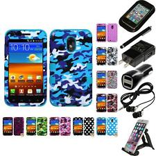 For Samsung Epic Touch 4G D710 Hybrid TUFF IMPACT Case Hard Cover Accessories