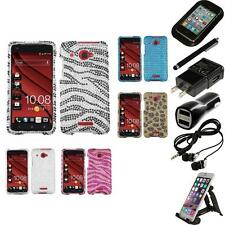 For HTC Droid DNA Diamond Diamante Bling Rhinestone Case Cover Accessories