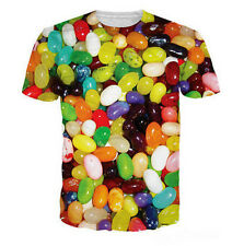 2016 Newest Fashion Womens/Mens colorful Jelly Beans Funny 3D print T-Shirt