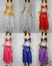 Hot! Brand New Sexy Belly Dance 2 Pcs Costume Bra & Belt(Without Skirt) 6 Colors