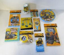 My 1st JCB Party Tableware Decorations and complete packs - Choose your items