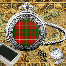 HAY SCOTTISH CLAN TARTAN POCKET WATCH GIFT ENGRAVING