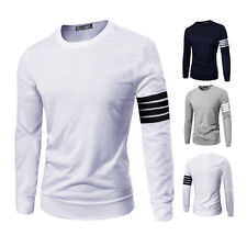 New Men's Cusual Long Sleeve Shirt Crew Neck Tops Tee Blouse Slim Fit Tee Shirt