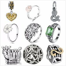New Fashion 925 Silver Charms Beads Rings Fit European Snake Chain Bracelet US