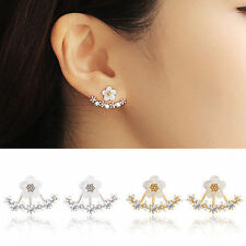 1Pair Fashion Women Crystal Daisy Flower Ear Stud Earrings Jewelry