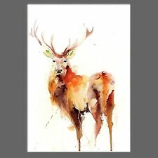 JEN BUCKLEY signed LIMITED EDITON PRINT of original 'Highland Stag' watercolour