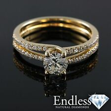 14k Gold 1.27 CT Certified Diamond Engagement Ring Size 8 VS-SI/F-G Enhanced