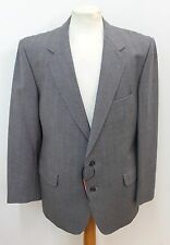 MAGEE Wool Men's Check Notched Lapel Single Breasted Blazer Jacket UK 40