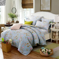 Floral Quilt/Doona/Duvet Cover Set100%Cotton Single/Double/Queen/King Size Bed
