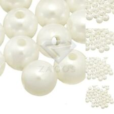 Acrylic Pearlized Round Beads Beige DIY Jewelry Making Supplies 4/6/8/10/12mm
