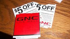 3 GNC Coupons each $5 off $25 Expires 5-31-17