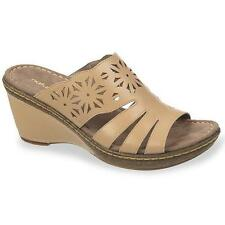 Women's NATURALIZER HISTORY Beige Casual Wedge Sandals/Slides Comfort Shoes NEW
