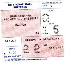 MAGNUM SHEFFIELD CITY HALL TICKET MAY 22 1985 -