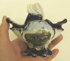 Antique Souvenir Porcelain Mini Basket Ambassador Bridge Windsor Ont. Germany