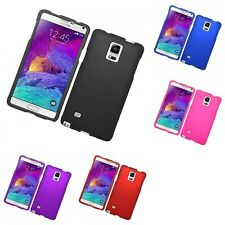 For Samsung Galaxy Note 4 Hard Snap-On Rubberized Phone Skin Case Cover