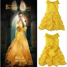 Action Belle Costume Kids Beauty and The Beast Princess Halloween Fancy Dress