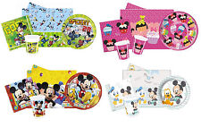 Disney MICKEY MOUSE Birthday PARTY PACKS - Plates Cups Napkins Tablecover