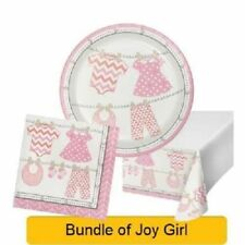 PLAID New Baby GIRL Baby Shower Party Range - Tableware Balloons & Decorations
