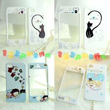 FULL FRONT + BACK CARTOON CUTE HARD COVER CASE FOR IPHONE 4 / 4S