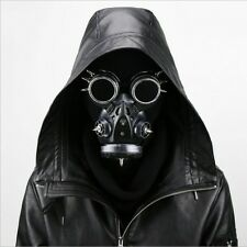 Gold/Silver Steam Punk Gas Mask Cosplay Dual Respirator Gothic Rave Halloween