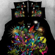 Quilt/Duvet/Doona Cover Bed Set Black Double/Queen/King Size New Butterfly A2672