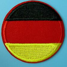 Germany German Flag Iron on Sew Patch Applique Badge Embroidered Biker Applique