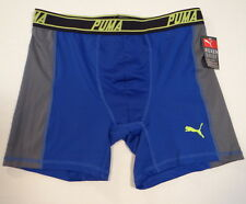 Puma Sport Stretch Blue & Gray Stretch Boxer Brief Underwear Mens NWT