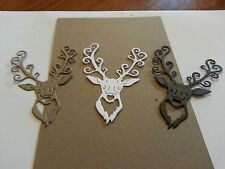 tattered  lace die cuts stag head