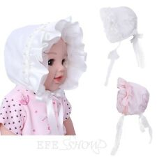 Infant Baby Girl Baptism Christening Blessing Gown Lace Bonnet Kids Sun Hat 3M-3