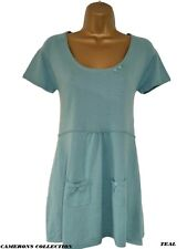 Ex- Mistral Teal Pink or Apple Lightweight Fine Knit Tunic Top  8 10 12 14 16 18