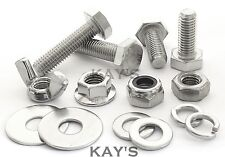 M8 HEXAGON SET SCREWS CHOOSE BOLTS NUTS OR WASHERS A2 STAINLESS STEEL