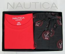 Nautica pajama set mens 2 piece short sleeve tee and flannel pants sizes M L NEW