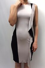 Karen Millen Black Nude Modern Draped Jersey Raglan Cocktail Party Dress 8 36