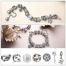 925 Silver European Charms Beads Fit Sterling Bracelet Snake Chain DIY Jewelry