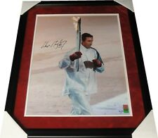 Wayne Gretzky Hand Signed 16X20 Photo Running w/ Olympic Torch #/199 WGA Framed