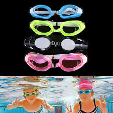 Kids Swimming Goggles Pool Beach Sea Swim Glasses Children Ear Plug Nose Clip HU