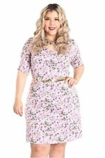 DEALZONE Beautiful Ruched Front Dress 1X Women Plus Size Pink Short Sleeve