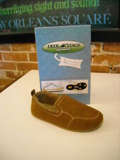 Deer Stags Slipperooz Lounge Brown Microsuede Faux Shearling Slipper Shoe New