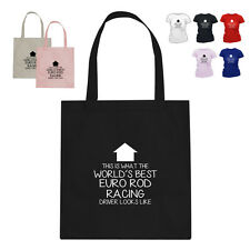 WORLD'S BEST Euro Rod Racing Driver Gift Cotton Tote Bag Arrow