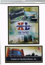 SUPER BOWL XL  Detroit 2006; 12X16 Matted Photo /  Collectible Cover and Stamp