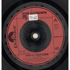 """DON GOODWIN This Is Your Song 7"""" VINYL UK Polydor 1973 Has Radio Station"""