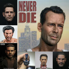 """1/6 Scale Head Sculpt Headplay Carving For Male 12"""" Hot Toys Action Figure Body"""