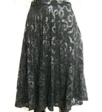 COAST BLACK SEQUINNED LACE SKIRT SIZES 10,12,14,16