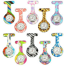 Numer Pattern Silicone Nurses Brooch Tunic Pocket Watch Stainless Dial Sturdy