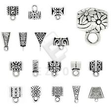 3-400pcs Antique Tibetan Silver Slider Spacer Bail Connector Jewelry Makings EB