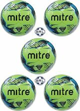 **30% discount**  5 x MITRE MISSION TRAINING FOOTBALLS - SIZES 3, 4 & 5 - GREEN