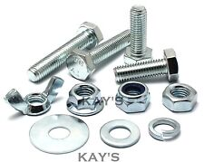 M10 HEXAGON SET SCREWS CHOOSE BOLTS,NUTS OR WASHERS HIGH TENSILE 8.8 ZINC PLATED