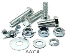 CHOICE OF FULLY THREADED M10 BOLTS,NUTS OR WASHERS HIGH TENSILE 8.8 SCREWS ZINC