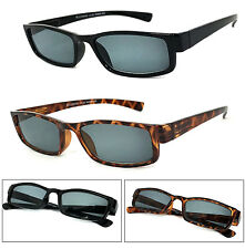 1 or 2 Pair(s) Retro Rectangular Smoke Lens Sun Reader Reading Sunglasses UV400