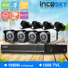 4CH 1080N HDMI CCTV 5 IN 1 DVR Outdoor 1500TVL Video Camera Home Security System